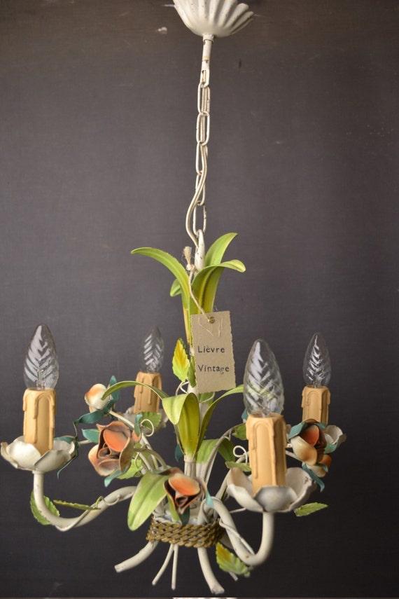 Tole flower chandelier (1406226)