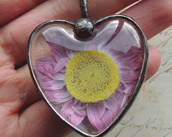 Natural Jewelry, pressed flower jewelry, bridal jewelry, bridesmaid necklace, pressed flower, Terrarium Necklace