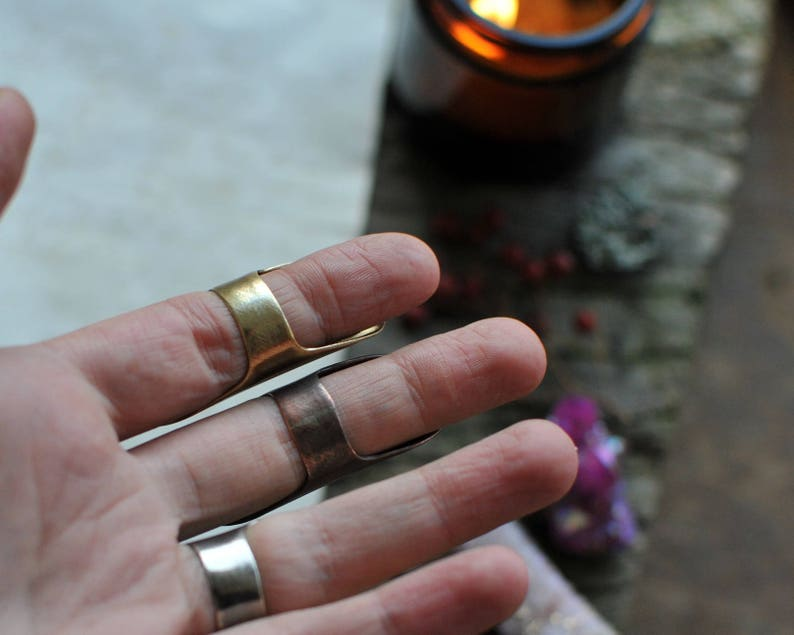 long ring chunky ring statement ring wide band ring viking ring edgy ring armor ring silver cuff ring cuff ring tube ring
