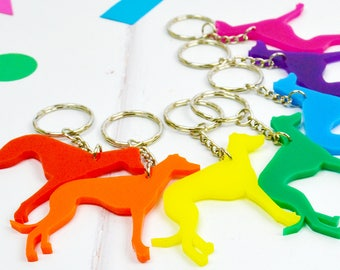 Greyhound Key Ring - Whippet Dog Gift - Gift for Lurcher Owner - New Home Owner Gift - Dog Keyrings - Gift for dog lover - Dog gift ideas