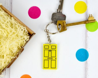Door keyring - new home gift - door keychain - new home owner - gift for home owner - house warming gift - stocking filler gift idea