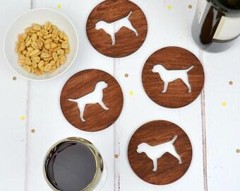 Border Terrier Dog Wooden Coasters - set of four - gift for dog lover - dog owner's gift - dog homewares - dog gift - christmas tableware
