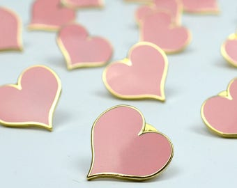 Pink Heart Brooch - heart pin - Mother's Day Gift - will you be my bridesmaid - pink brooch - will you be my maid of honour - gift for her