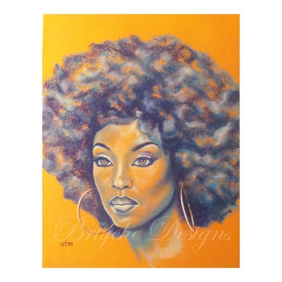 Orange is the New Black, African American Art, Wall Art, Art, Afrocentric  Art, Modern Art, Modern Urban Art, African American Artwork, Afro