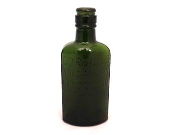Vintage Gordons Special Dry London Gin Bottle, Alcohol Bottle, Green Glass Bottle, Antique Gin Bottle, Old Glass Bottle, Spirit Bottle