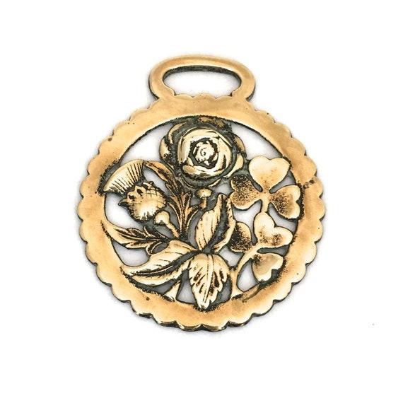 Cheval Vintage En Laiton Chardon Ecossais Rose Anglaise Etsy