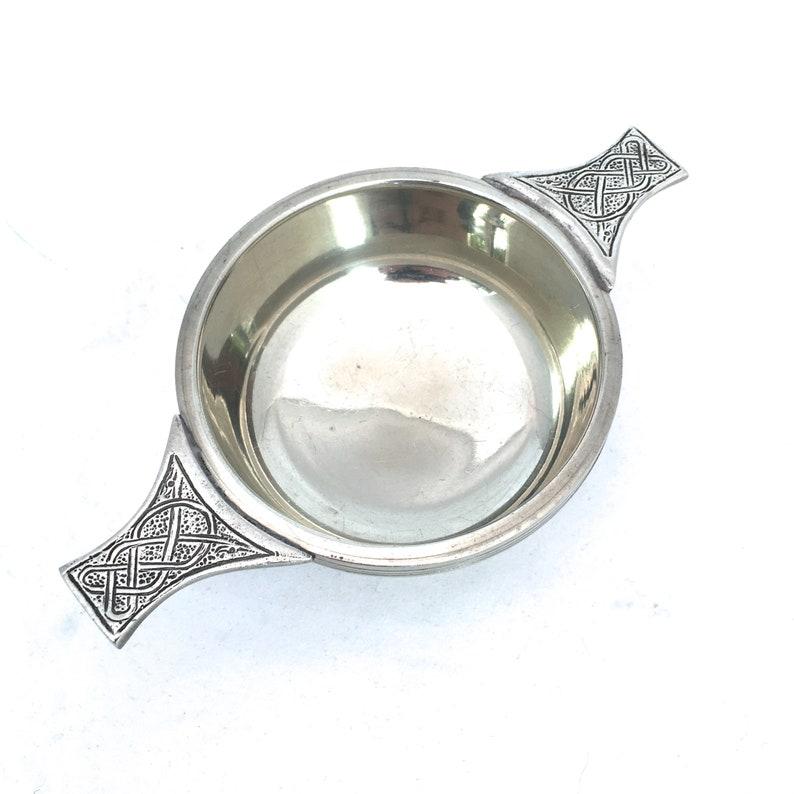 5 inch Diameter by The Quaich Company Gift Boxed Silver Plated Quaich