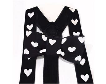0293a33e10b black and white heart suspenders