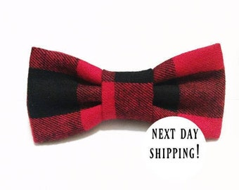 b986526f6083 black and red buffalo plaid bow tie-plaid bow-buffalo plaid-toddler bow tie-mens  bow tie-adult bow tie-baby boy-baby girl bow-black and red