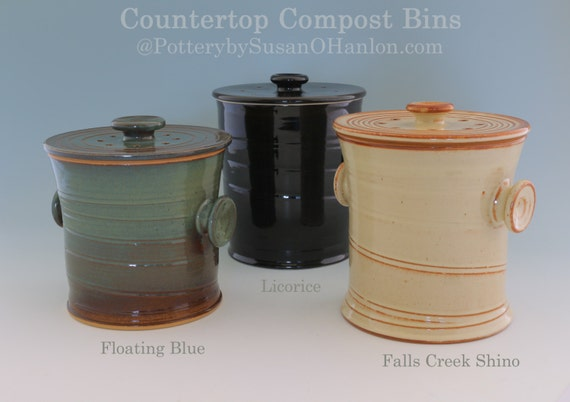 Countertop Compost Bin Recycle Garbage Kitchen Scraps Coffee | Etsy