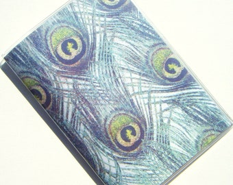Passport  Holder Case Cover -- Peacock Feathers 2