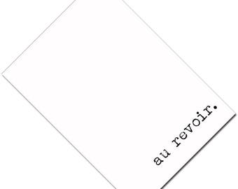 Passport Cover Holder Case -- au revoir.