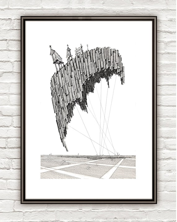 Soajo Surrealism Architectural Drawing Architecture Sketch