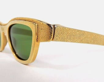 Vintage MCM Hollywood Regency Metal Rare Sunglasses