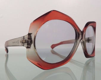 77bdcfe6c3 Vintage Mid-Century Modern Cool-Ray 195 Red Clear Sunglasses