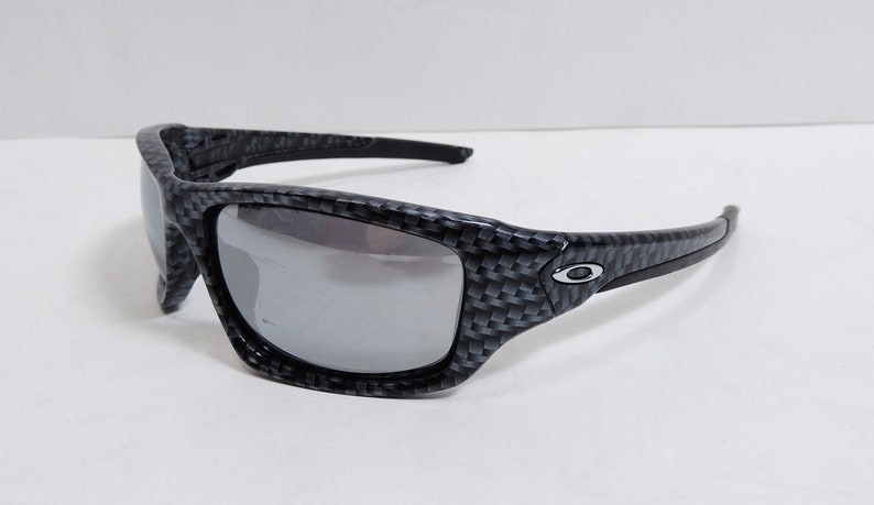 d62087bf7f Oakley Valve Carbon Fiber Chrome Iridium Sunglasses | Etsy