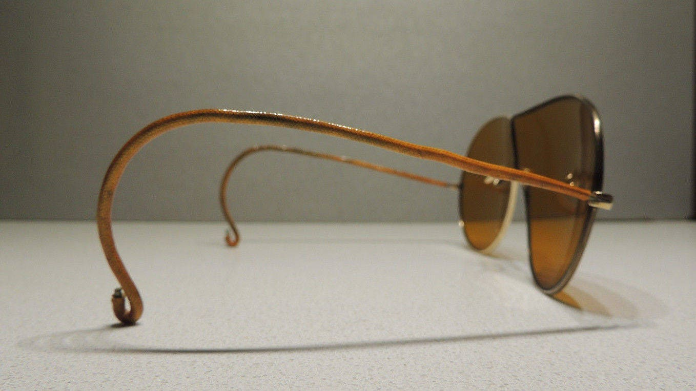 Vintage 1920S Outinglas ámbar lentes aislados cable templos