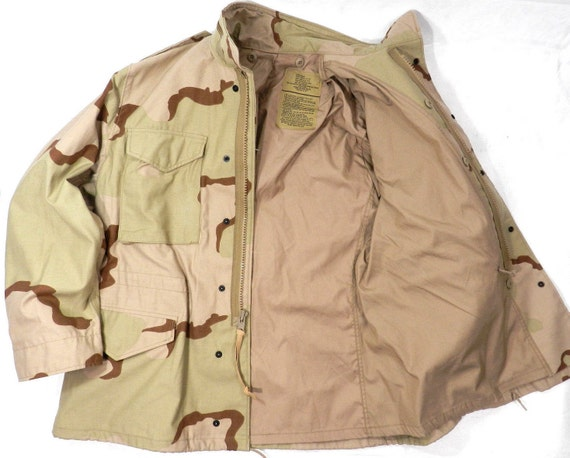 Original M65 field Desert Camo jacket Made in USA
