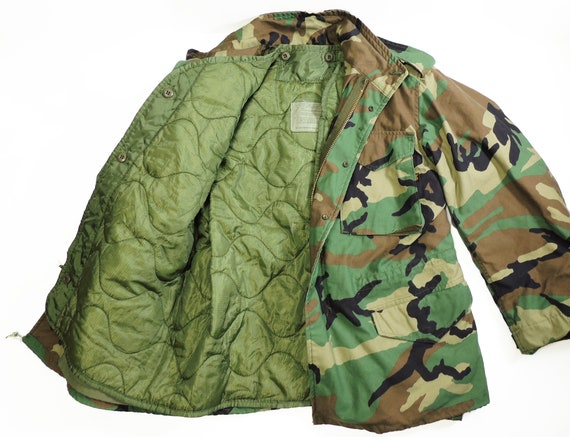 Military Woodland Camo Original M65 Field Jacket U