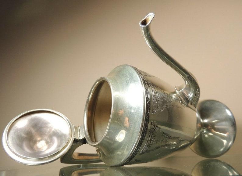 Vintage Antique Art Deco Benedict Silver Plate Tea Coffee Pot
