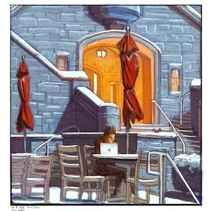 The demolition of the old post office in Bloomington Indiana Bloomington Art Print Hoosier art Indiana illustration poster