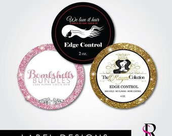 Edge Control Labels, Product Labels, Round Stickers