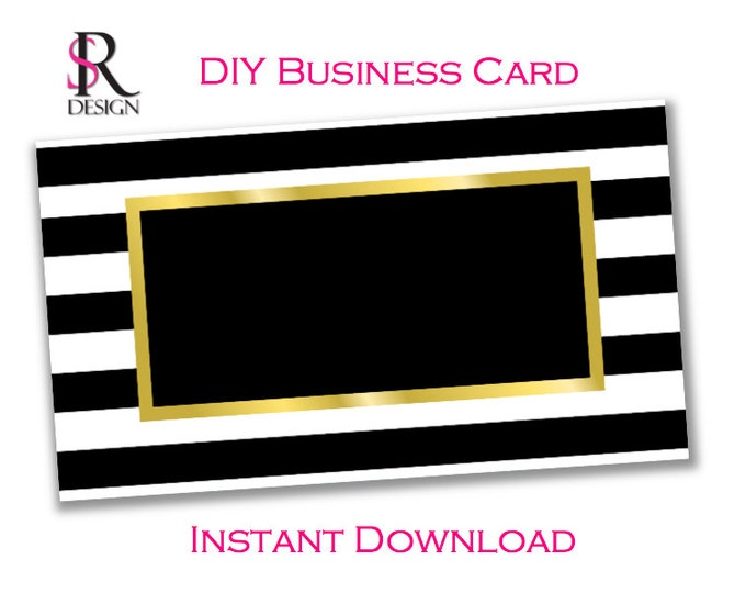DIY Business Card Template, Instant Download