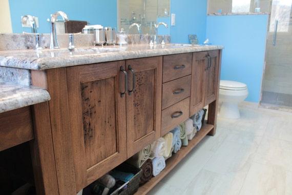 Merveilleux White Walnut Bathroom Vanity | Etsy