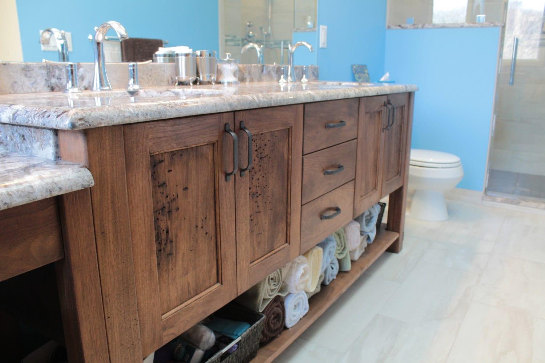 White walnut bathroom vanity etsy