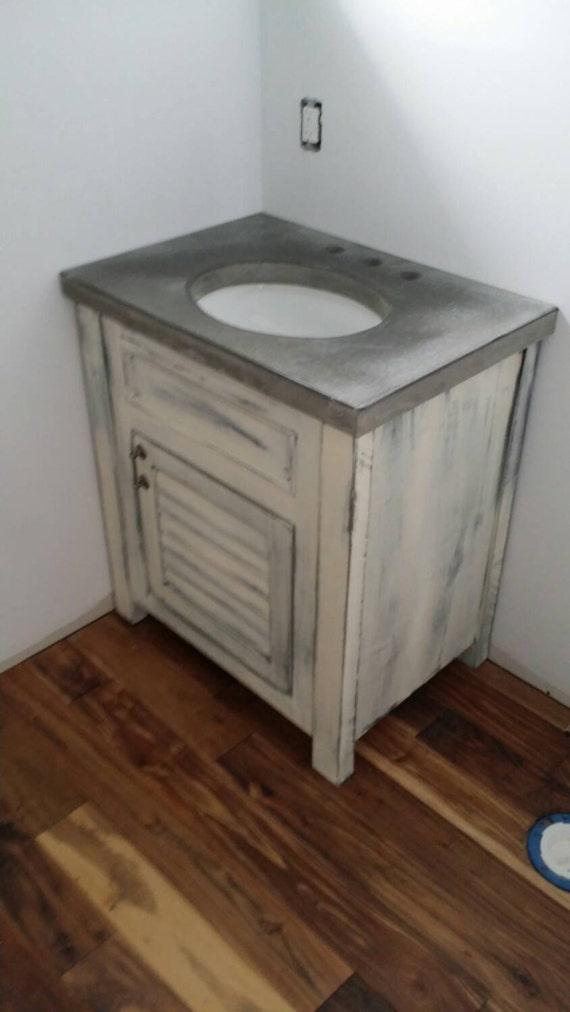 Lightly Distressed Bathroom Vanity Etsy