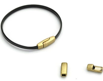 a081d7830b 3MM Flat Clasp - Antique Brass Clasp - Flat Cord Clasp for 3MM Leather -  3x2MM Clasp - Leather Cord Clasp