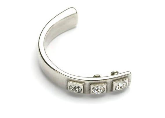f82099fbd3798a Triple SWAROVSKI Half Cuff Bracelet Crystal Finding for