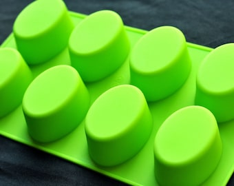 Classic Silicone Soap Molds Candle Making Molds Chocolate Jelly - 8x100g Ovals