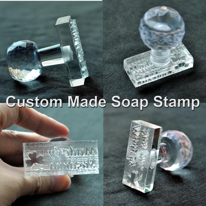 Custom-made customize Handmade Acrylic Glass Soap Stamp Seal image 0