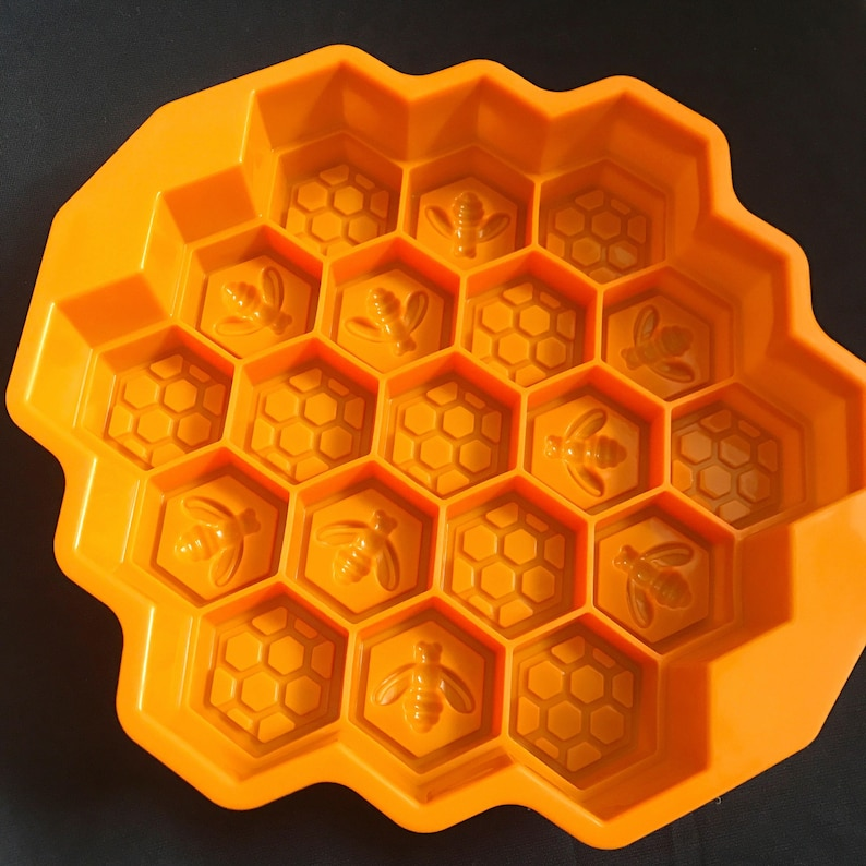 Bee Honeycomb soap mold jewelry Flexible Silicone Mould polymer clay mold Cake Mold Chocolate Mold Cookie Mold Icing Mold Resin Mold