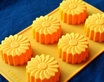 Silicone Silicon Soap Molds Candle Making Molds Chocolate Jelly - 6 Windmills