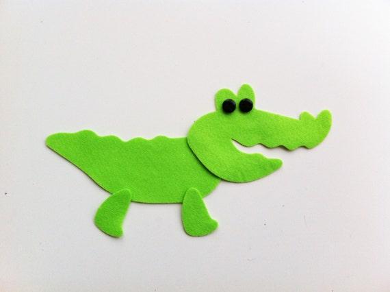 feutre die cuts feutre Die Cut Alligator Die Cut crocodiles Vert Feutre Crocodile