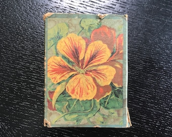Vintage 1930s colorful nasturtium seed box/seed packet/ephemera