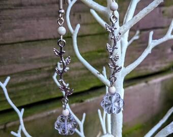 Pastel Flower Dangle Earrings