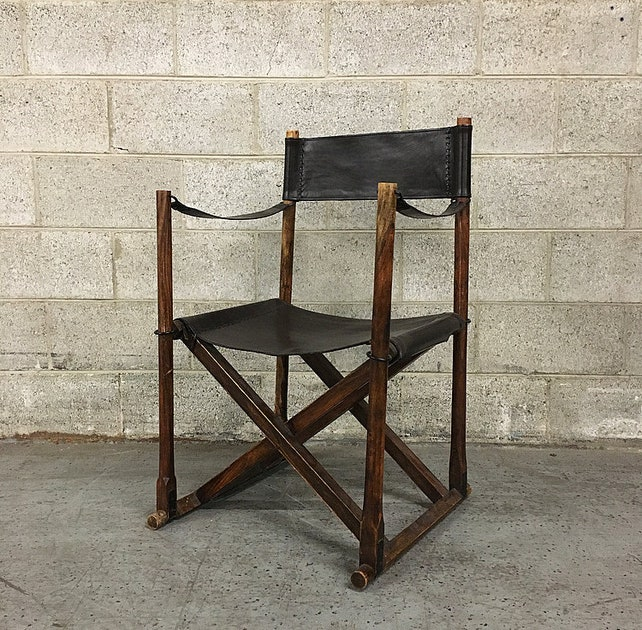 Vintage Directors Chair Retro Black Leather and Wood Fold Up X Frame Chair  with Metal Accents LOCAL PICKUP ONLY - Vintage Directors Chair Retro Black Leather And Wood Fold Up X Etsy