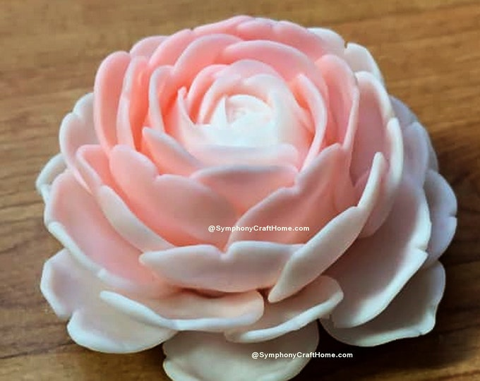 3D rose mold, rose mold, English rose mold, flower mold, soap supply, resin mold, candle mold, resin mold, rose soap mold