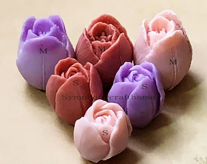 3D tulip silicone mold, tulip flower mold, soap mold, candle mold, resin mold, tulip silicone mold #tulip soap mold