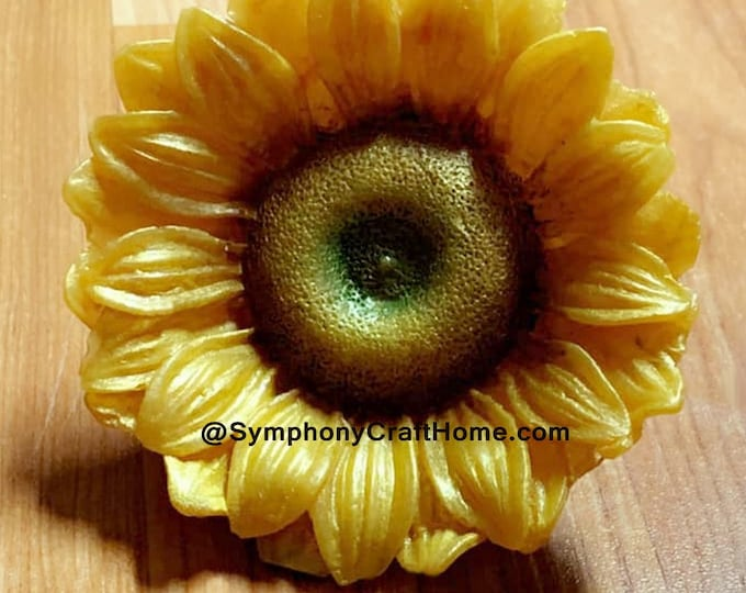Large #3D sunflower mold, #sunflower mold, sunflower soap mold sunflower candle mold gelatin mold cake mold #flower silicone soap mold