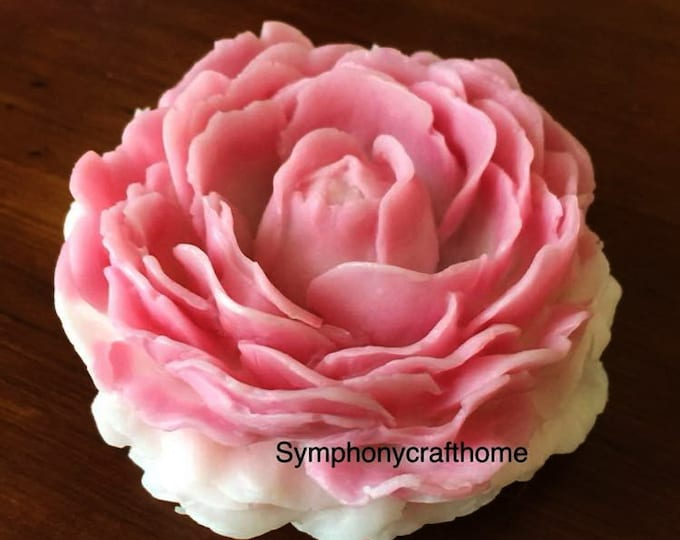 3D big peony mold, peony mold, soap mold, resin mold, flower mold, peony candle mold, 3D silicone mold #peony mold