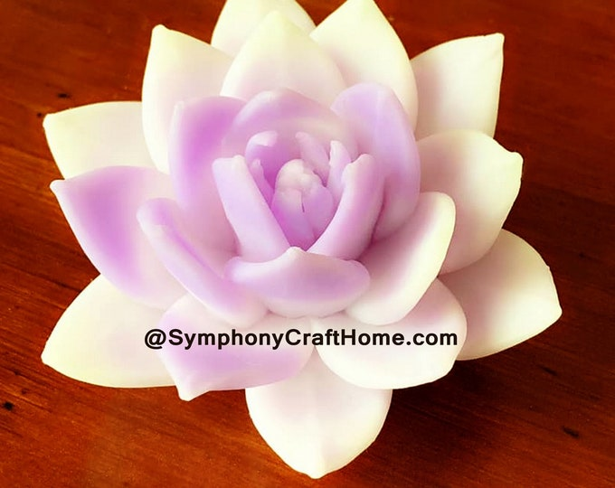 3D Succulents mold  #Lotus rose flowers silicone soap mold 3D lotus mold 3D gelatin mold 3D candle mold large lotus mold 3d magnolia mold