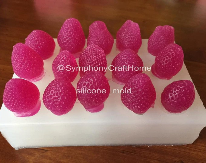 3D strawberry mold, mini strawberry mold, #strawberry silicone mold, #DIYmold, embed mold, silicone mold, fruit mold, cupcake top,resin mold