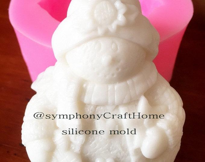 snowman soap mold, Christmas mold, gift mold, silicone soap mold, resin snowman mold, snowman clay mold, handmade soap mold