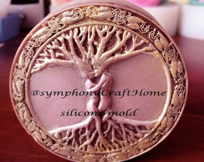 Tree of life mold, silicone soap mold, Tree of life silicone mold, silicone soap mold, bathandbody mold, art silicone mold, soap mold