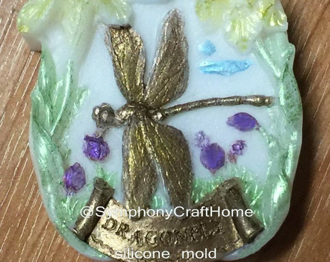 Dragonfly mold, flower and dragonfly mold, spring mold, silicone soap mold, soap mold, # flower dragonfly mold , resin mold