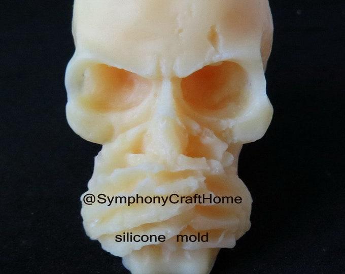 3D skull mold, soap mold, silicone soap mold, candle mold , resin mold, speak no evil mold, 3D silicone mold, fondant mold, sugar craft mold